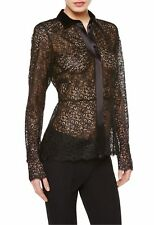 NWT LA PERLA EDENIC BLACK SILK LACE SHIRT US 8 $2228   SFS