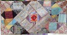 Taie d'oreiller patchwork en soie Fait à la main en Inde Housse de coussin T3