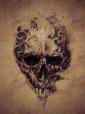 PAINTING DRAWING TATTOO CREEPY SKULL GOTHIC GRUNGE ART PRINT POSTER MP3851B