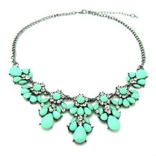 Flower Fashion Chain Short Necklace Pendant Crystal Choker Chunky Collar Jewelry