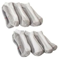 Men's Hanes Premium Xtemp Dry 6Pk White Low Cut Socks