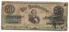 $50 1861 Fifty Dollars Jeferson D Confederate States Of America Sn 47011 pp xA