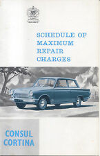 Ford Consul Cortina Repair Charges Issued 1963