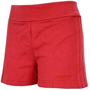 Adidas Feel 3S Sweat Shorts Damen kurze Hose Hot Pant's Sport Freizeit Capri rot