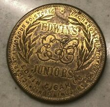 Edwin's Juniors Cigar Trade Good Luck Token