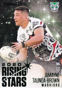 2021 NRL Traders Rising Stars Parallel Card Warriors Jamayne Taunoa Brown RSP15