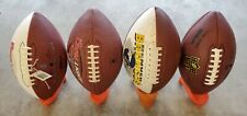 New listing Lot Of 4 Footballs and 4 Holders Wilson Nfl Broncos