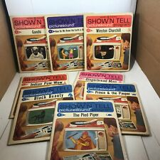 Vintage Lot of General Electric Show'N Tell Picturesound Programs 1964-1967
