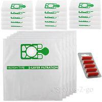 20 Hepaflo Cloth Bags FILTER FLO & Fresheners for Numatic Henry Hetty Vacuum