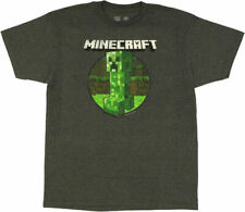 "Minecraft ""Retro Creeper"" Mens Medium Unisex T-Shirt -new"