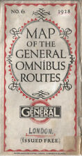 More details for old london bus map - 1928 - no. 6 - london general omnibus routes