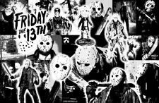 """FRIDAY THE 13TH """"Black Light"""" Collage Poster"""