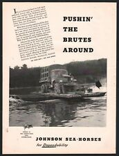 1943 WWII JOHNSON Outboard Motor AD Rafting a military transport truck