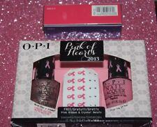 OPI Nail Polish Pink of Hearts 2013 Limited Edition Set. Free Ribbon & Decals