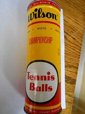 vintage key wind Wilson Tennis ball can sealed