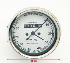 Royal Enfield Smiths Speedo Meter 0-80 MPH With White Face BSA /NORTON