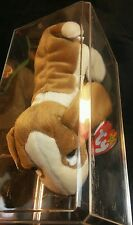 """Rare Retired ty Beanie Babies """"Tracker"""" with errors"""