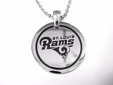 NFL  St. Louis Rams Stainless Steel  Round Logo Pendant Disc w/ Chain
