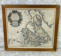 Antique Map Carte Du Canada ou de la Nouvelle France 1703 Collection of William