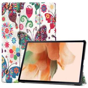 """For Samsung Galaxy Tab S7 FE / S7 Plus 12.4"""" Smart Flip Stand Pattern Case Cover"""