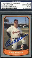 Earl Weaver Autograph Psa/dna Certified 1988 Pacific Authentic Signed