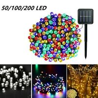 Solar Power LED String Lights Garden Path Yard Decor Lamp Outdoor Waterproof