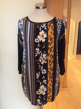 Betty Barclay Top Size 20 Navy Brown Mustard Now