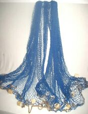 Großes DEKO- Fischernetz mit Schwimmern - 340x 340 cm- blau