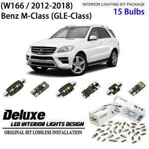 Deluxe LED Interior Light Kit Xenon White for 2012-2018 Benz M Class (GLE-Class)