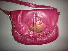 MARC BY MARC JACOBS Petal To The Metal Flap Crossbody MERLOT GOLD BIRD Purse