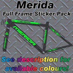 MERIDA Full frame Sticker Kit, protectors, Custom MBK, Bike, Mountain,Road,cycle