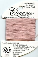 Rainbow Gallery Elegance #E823 Lite Antique Mauve #8 Silk Pearl Thread 100% Silk