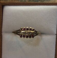 10k Solid Gold Ruby And Diamond Ring Sz 8.5