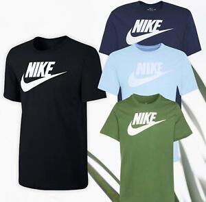 Nike T Shirt Mens Top Jersey Gym Football Sports Training Crew Neck 100% Cotton