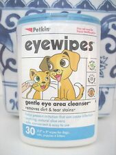 PETKIN EYEWIPES EYE WIPES TEAR STAIN REMOVER GENTLE EYE AREA CLEANER CATS DOGS