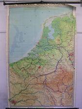 Schulwandkarte Wandkarte Belgien Niederlande Luxemburg map 135x205cm Amsterdam
