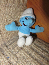 MCDONALDS TOY HAPPY MEAL children childs smurf soft toy 2011 peyo hangs