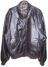 MEN BOMBER JACKER  DEKALB STRONG ROOTS STRONG YIELD Size X-LARGE BROWN LEATHER N