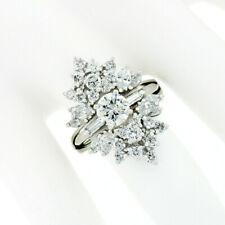 14k Gold 2.83ctw GIA Round & Marquise Diamond Engagement Wedding Insert Ring Set