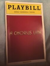 PLAYBILL A CHORUS LINE BROADWAY COLOR COVER  2006