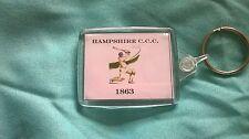 Hampshire County Cricket Club Acrylic Keyring Passport  size 45mm x 35mm