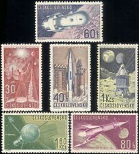 Czechoslovakia 1962 Space/Vostok/Rocket/Satellite/Moon/Transport 6v set (n46149)