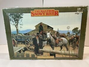 1982 vintage THE MAN FROM SNOWY RIVER 750 PIECE PUZZLE complete