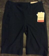 Womens Reebok Exercise Shorts Workout Sport Black Bermuda Size Xsmall Msrp $45