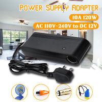 🔥 220V DC to AC 12V 120W 10A Power Supply Adapter Cigarette Socket Car