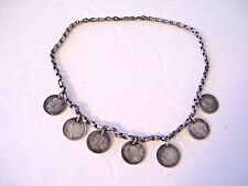 British 3 Pence Silver Necklace Pre WWII