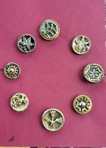 Small lot antique metal buttons #1