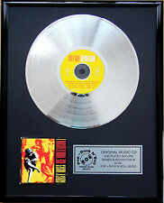 "Guns N Roses Use your Ill CD/Cover gerahmt + 12"" Deko goldene Vinyl Schallplatte"