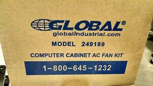 Global Industrial 249189 Computer Cabinet AC Fan Kit 110V NEW