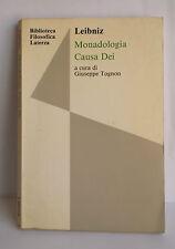 L47> Monadologia causa dei a cura di Giuseppe Tognon anno 1991